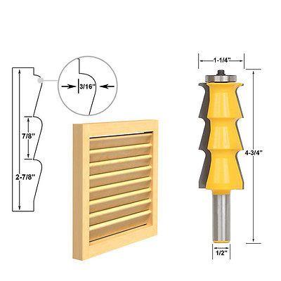 """Raised Panel Cabinet Door Router Bit Set - 1/4"""" Shank - 0001"""