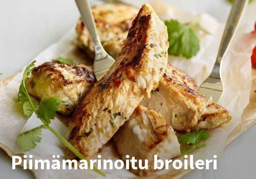 Piimämarinoitu broileri, Resepti: Valio #kauppahalli24 #helpompiarki #resepti #ruokaidea #arkiruoka #broileri #kana #piimä