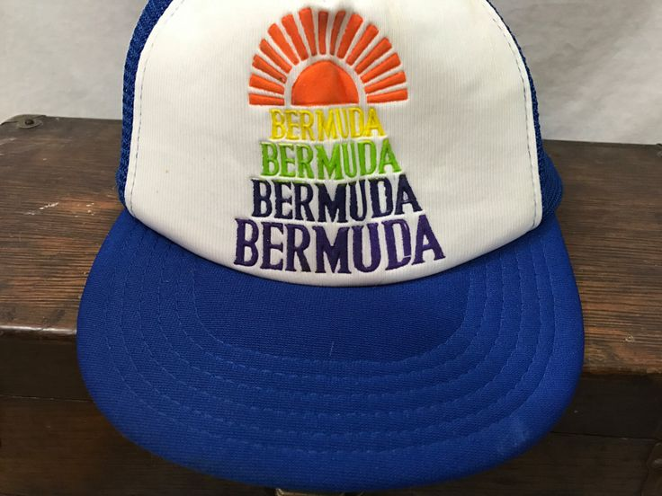 A personal favorite from my Etsy shop https://www.etsy.com/listing/492481657/70s-trucker-hat-bermuda-vintage-vacation