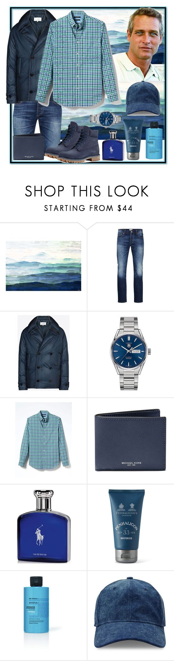 """Being Paul Newman"" by natalyapril1976 ❤ liked on Polyvore featuring Jack & Jones, Maison Margiela, TAG Heuer, Banana Republic, Michael Kors, Ralph Lauren, PENHALIGON'S, La Compagnie de Provence, Gents and Timberland"