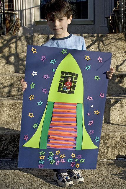 100 days of school project | Rocket poster