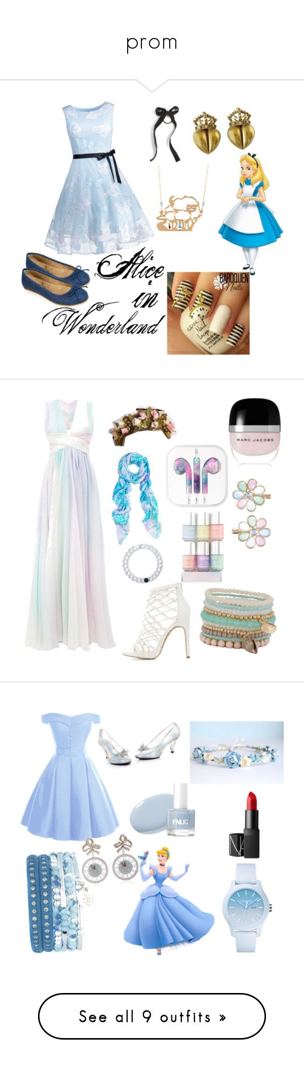"""prom"" by bakercakes ❤ liked on Polyvore featuring Cliffs by White Mountain, Les Néréides, Cara, Charlotte Russe, Amy Sia, Marc Jacobs, Zuhair Murad, Monsoon, Lokai and ALDO"