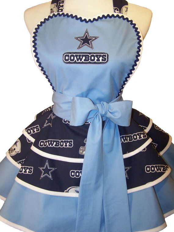 Retro Dallas Cowboys Apron Pin Up Style. by WellLaDiDa on Etsy, $50.00