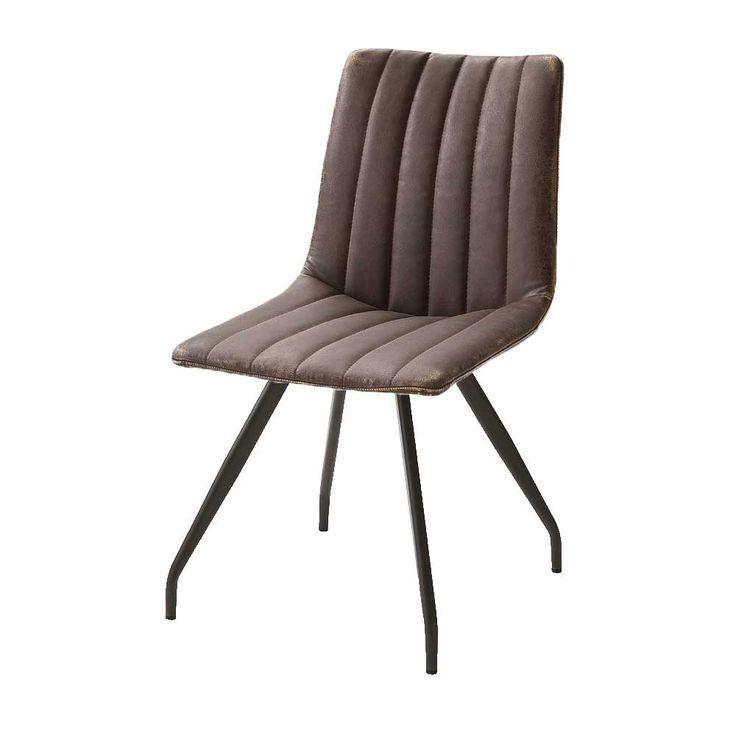 Stuhl Set Im Retro Design Braun Kunstleder (2er Set) Jetzt Bestellen Unter:  Https