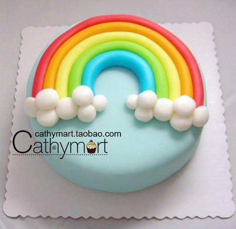 fondant rainbow as inspiration #Cupcake #Rainbow