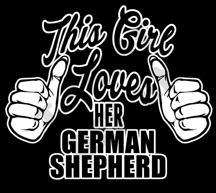 This Girl Loves Her German Shepherd - PNG T-shirt design by MugsAndAccessories on Etsy