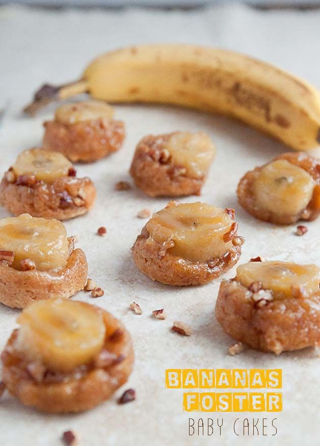 Bananas Foster Baby Cakes | Dessert for Two