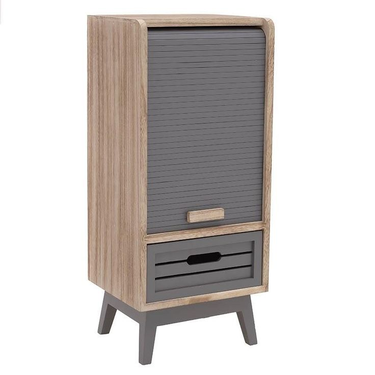 WOODEN CABINET IN BEIGE-GREY COLOR 30Χ25Χ68 - Showcases - Closets - FURNITURE