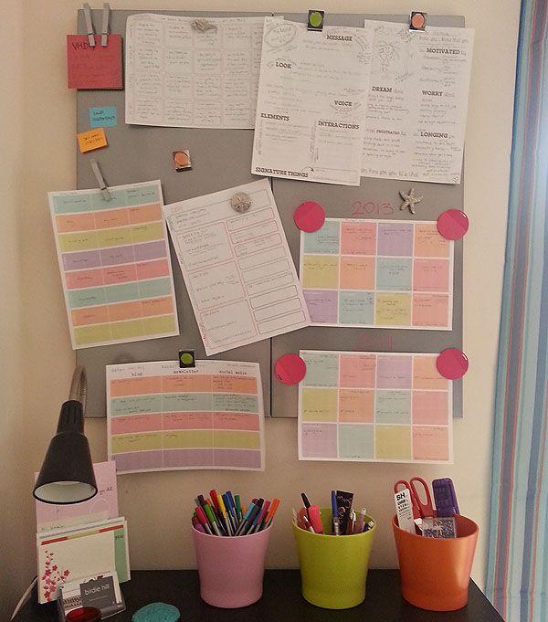 my biz vision board / plan