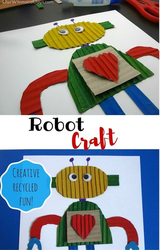 An open-ended craft idea to go with Robo-Sauce - make your own robot from cardboard shapes!