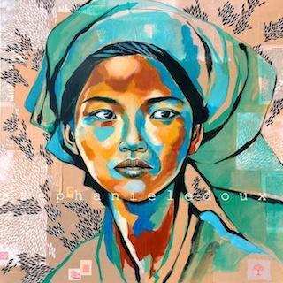 Beautiful work, troubled soul. The travel Stéphanie Ledoux: ORIGINAL PAINTINGS