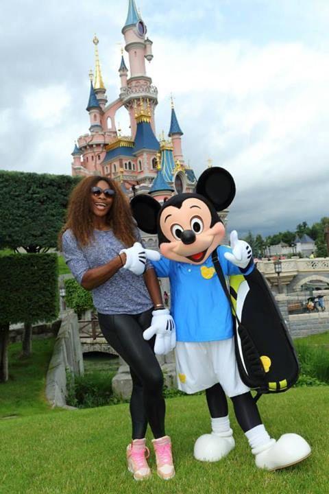 La Championne de Tennis Serena Williams à Disneyland Paris