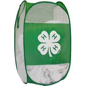Keep your dirty clothes neatly stowed away for wash day with this collapsible 4-H hamper.