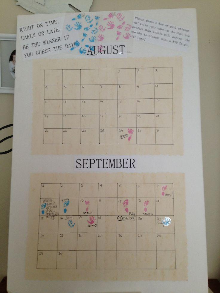 Calendar Game Ideas : Best ideas about due date calendar on pinterest baby