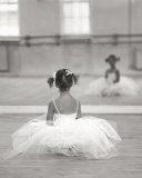 Adorable little ballerina picture for their room...