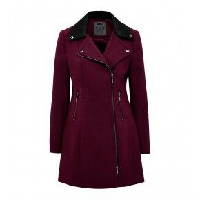PURCHASED winter coat leather collar