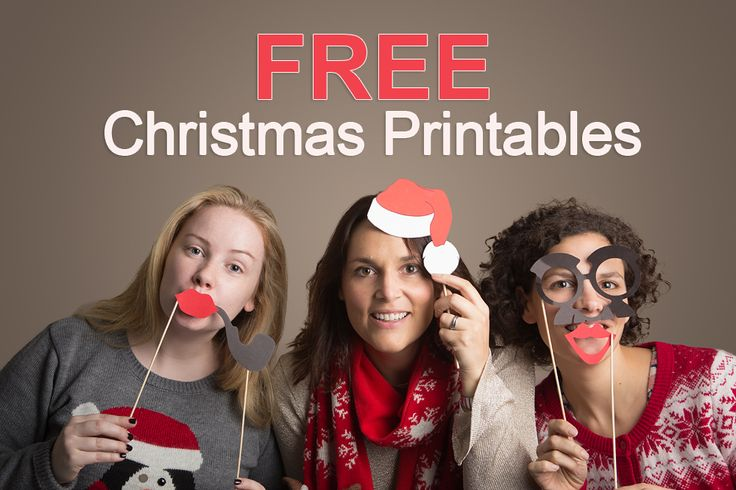 Get your FREE printable Christmas photo props here: http://www.appleberrypress.com/product.aspx?compId=1226 includes santa hat, beard, Rudolph the red nose reindeer, carrot nose, photobooth sign, funky glasses, top hat, pipe and more... Use for a christmas wedding, wedding photobooth, Christmas dinner