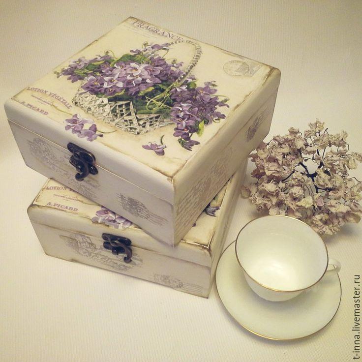 Купить Короб для чайных пакетиков Старые письма - белый, шкатулка, шкатулка декупаж, шкатулка для мелочей