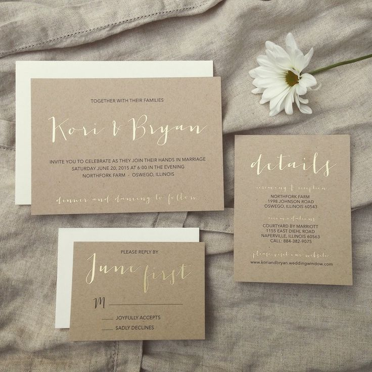 Rustic And Elegant Farm Wedding   Gold Foil Invitation Suite From  StaceyHolbrook Design