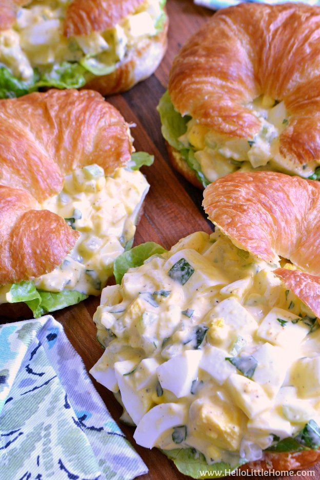 Deviled Egg Salad Sandwiches ... a tasty twist on the classic egg salad recipe! This easy deviled egg salad recipe is bursting with flavor and crunch! So simple to make and perfect for parties, snack, or any meal! | Hello Little Home