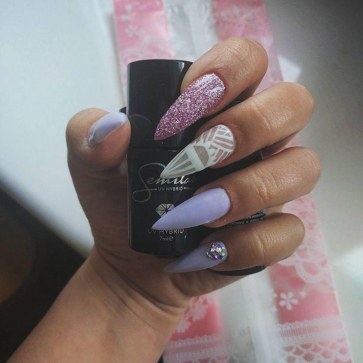 Przedłużane paznokcie, długie pazury :) nailart #piekniejszaty