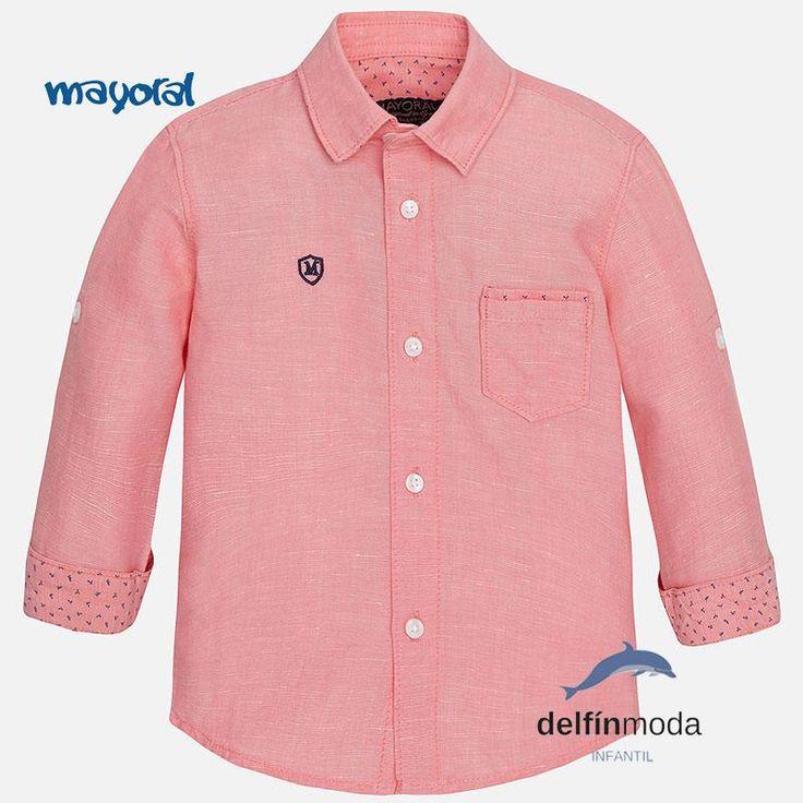 Camisa de bebe manga larga MAYORAL basica color lichi