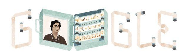 121º aniversario de Ángela Ruiz Robles, precursora do libro electrónico #GoogleDoodle ~ Orientación en Galicia