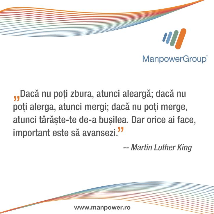Martin Luther King despre perseverenta.