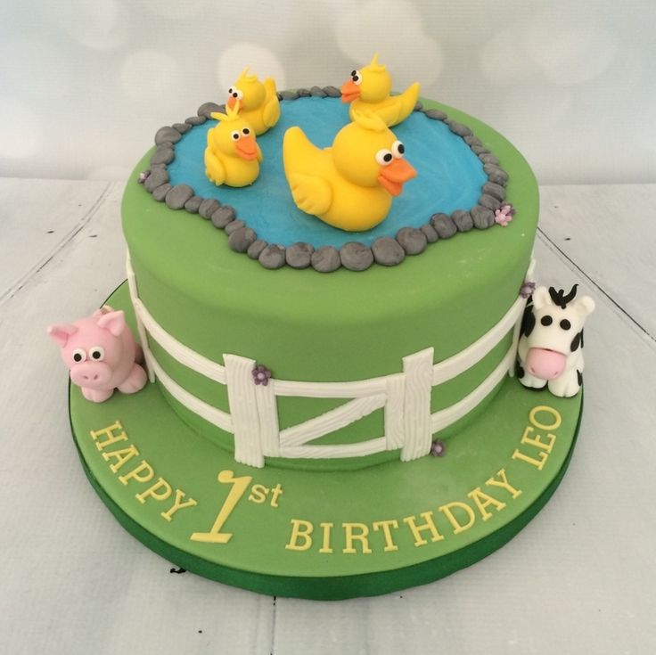 Duck & Farmyard cake - For all your cake decorating supplies, please visit craftcompany.co.uk