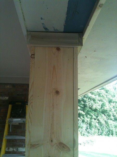 Small Wooden Column : Best images about porch column ideas on pinterest