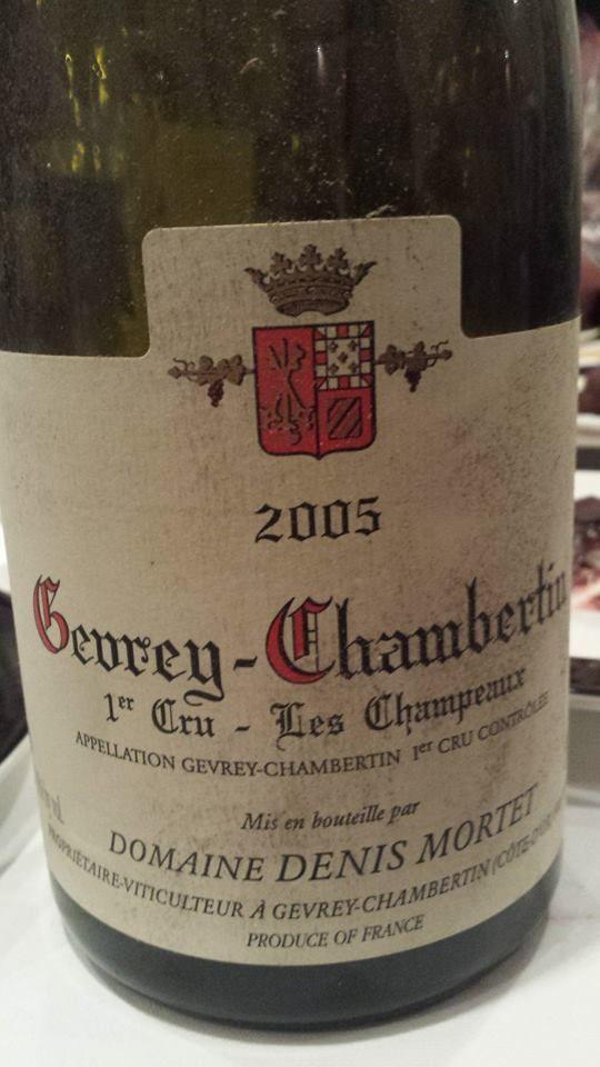 Vin du jour // Wine of the day: Domaine Denis Mortet – Les Champeaux 2005 – Gevrey-Chambertin 1er Cru (16.75/20) http://vertdevin.com/vin/domaine-denis-mortet-les-champeaux-2005-gevrey-chambertin-1er-cru/