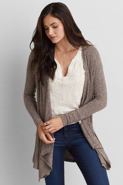 Feather Light Waterfall Cardigan | American Eagle Outfitters