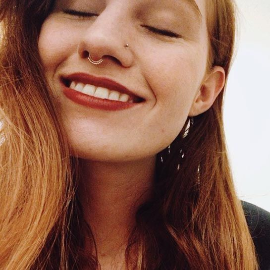 Septum Piercings Are Having A Moment #refinery29  http://www.refinery29.com/septum-piercing-trend#slide-9  R29 photo assistant Rockie Nolan is absolutely smitten with her new dainty septum — for the record, so are we.