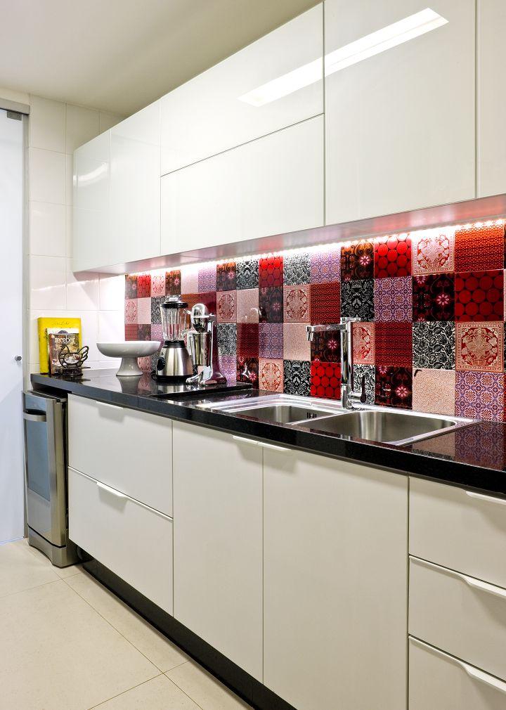 Decoração de: Cozinha - adesivos de azulejo; Casa de Valentina