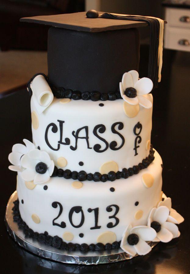 Graduation Cakes for Girls   graduation cap cake graduation cap cake fondant mortar board tassels ...