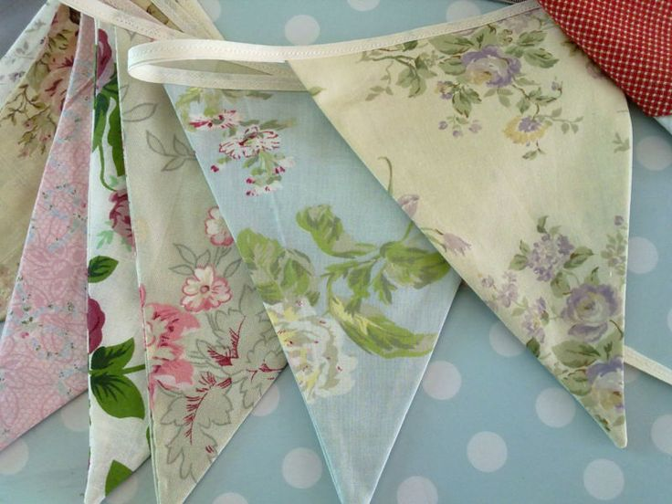 Vintage Floral, Gingham, rustic, Shabby chic, Wedding Marquee Bunting, Country | eBay