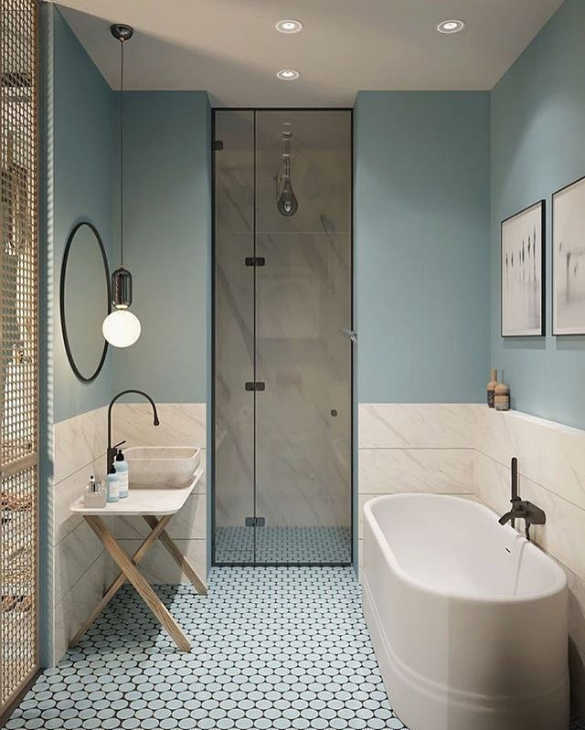 47 Inspiring Bathroom Remodel Ideas You Must Try Bathroom Interior Design Light Blue Bathroom Bathroom Color