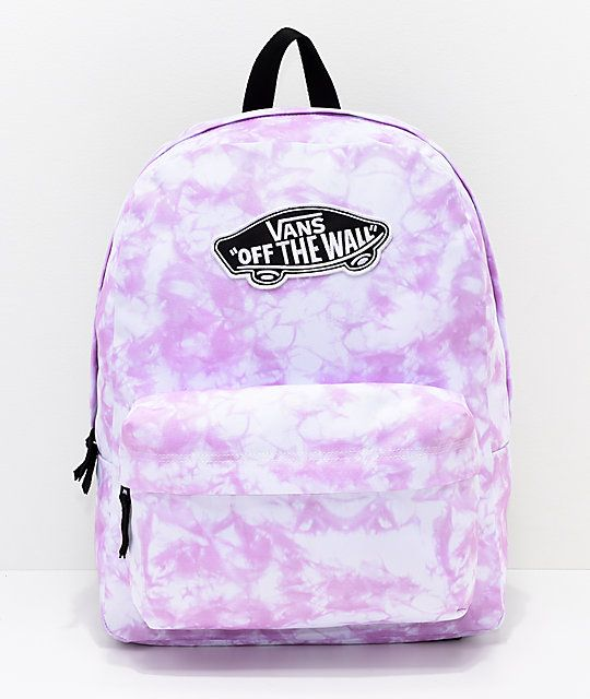 3845197aa7fe9 Vans Sporty Realm Violet Cloudwash Backpack in 2019 | School | Vans ...
