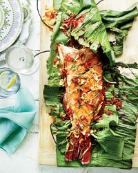 Whole Grilled Fish with Crispy Garlic and Red Chiles Recipe on Food & Wine