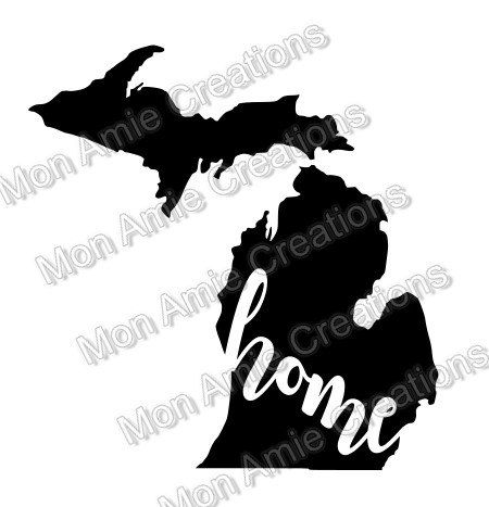 Michigan Home Fancy SVG Digital Cutting File Vector Image Personal Use by MonAmieCreations on Etsy