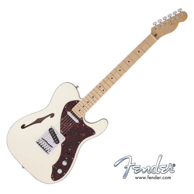 Fender American Deluxe Telecaster Thinline - Olympic White with Case