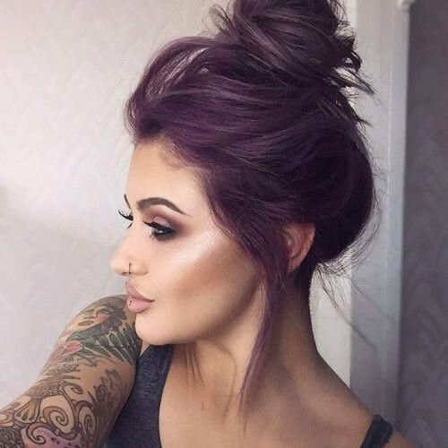 50 Beautiful Plum Hair Color Ideas [post_tags summer hair inspiration, summer haircolor, summer hair colour, summer hairstyles, styles, coloring, updo, long, blonde, for brunettes, short, braids, medium, cuts, 2018, 2019, 2020, festival hair ideas, bayalage, pink, acessories, brown, dark, red, quotes, fringe, tutorials bags, highlights #longhair