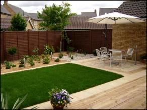 contemporary gardens with paved patios and decking - Google Search