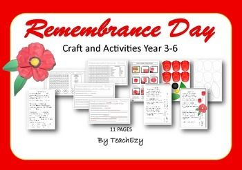 Remembrance Day Craft and Activities