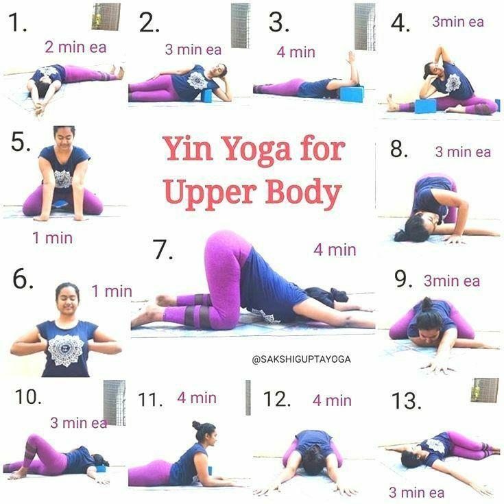 Yin Yiha For Upler Body Yin Yoga Sequence Easy Yoga Workouts Yoga Asanas