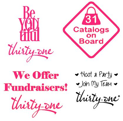 Thirty one gifts car decals