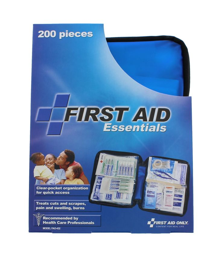 First Aid Only FAO-432 First Aid Kit, 200 Piece, Fabric Case
