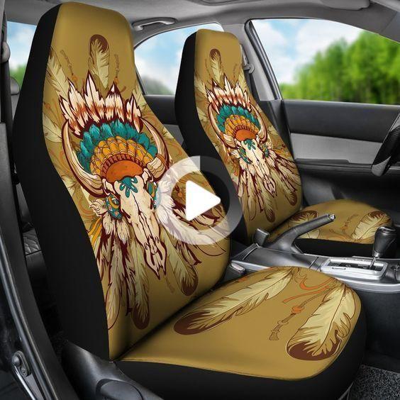 Native Indian Buffalo Head Universal Fit Car Seat Covers Car Seat Cover Sets Fit Car Car Seats