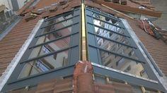 Fabricant Réalisation d'une verrière de toiture en acier mécano soudés avec profilé rupture de pont thermique. Toiture en verres étudié, fabriqué et installé à LYON 69 dans le département du ... Lyon, Verrière de toiture à Lyon avec rupture de pont thermique