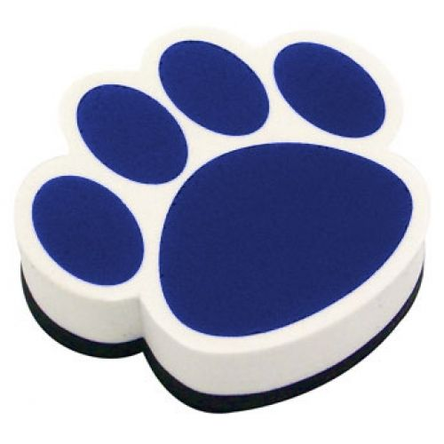 Magnetic Whiteboard Erasers, Blue Paw, ASH10002